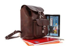 Big leather backpack VOOC Vintage P38