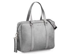 Brodrene Leather Bag Grey