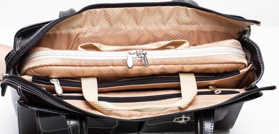 "15.6"" Leather Fly-Through™ Checkpoint-Friendly Ladies' Briefcase Mcklein Verona"