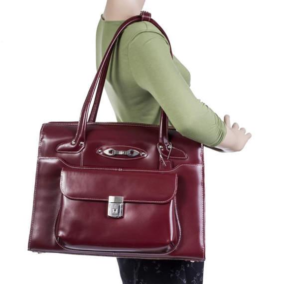 """15.6"""" Leather Ladies' Briefcase Mcklein Wenonah"""