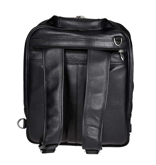"15.6"" Leather Three-Way Computer Backpack Brief Mcklein Lincoln Park"
