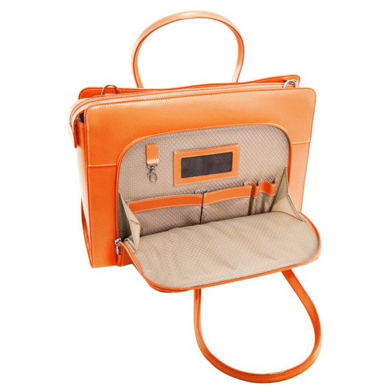 """15.6"""" Leather Women's Case w/ Removable Sleeve Mcklein Lake Forest"""