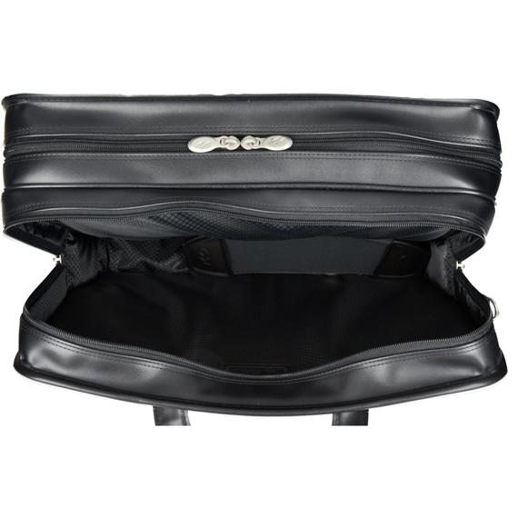 "17"" Leather Detachable Wheeled Laptop Case Mcklein Franklin"