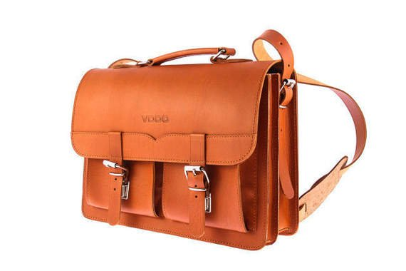 Classic leather satchel/backpack  VOOC Vintage P12