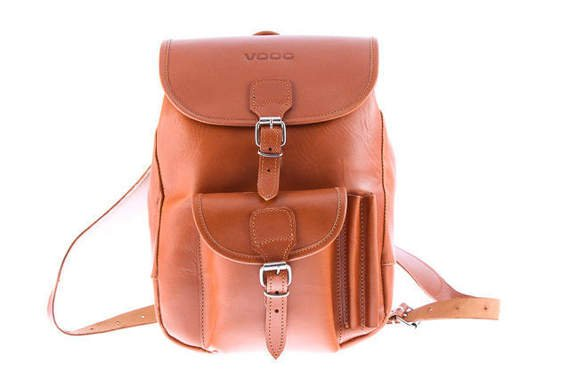 Fashionable leather backpack VOOC Vintage P1
