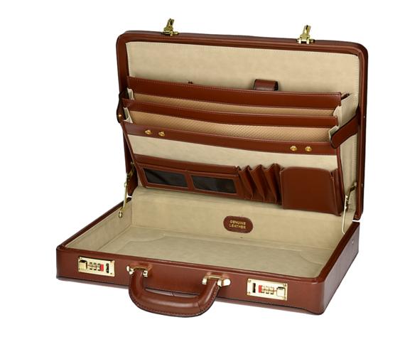 Leather Attache Case Mcklein Daley