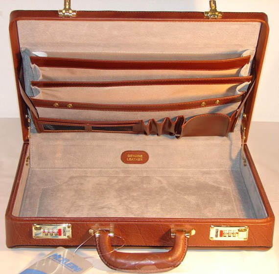 Leather Attache Case Mcklein Daley