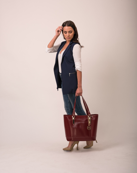 Leather Ladies' Tote with Tablet Pocket ARYA