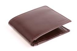Brązowy męski portfel skórzany VOOC PPM3