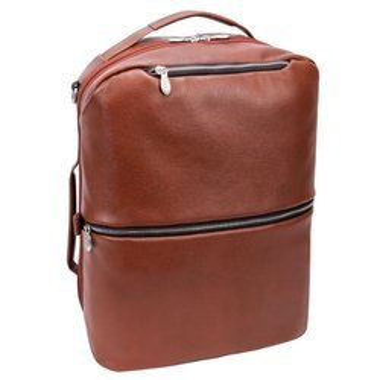 """Brązowy plecak i torba podróżna East Side ze skóry naturalnej na laptopa 17"""""""