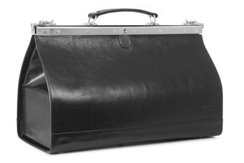 Duży Czarny kufer lekarski 45 PK6