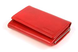 Kobiecy i piękny damski portfel w kolorze czerwonym
