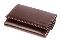 Mały brązowy portfel damski ze skóry