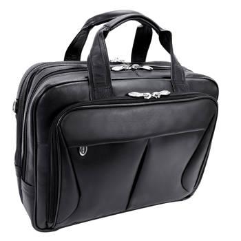 986db53075ad4 Męska torba skórzana na laptopa Pearson, czarna 15,6