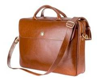 Skórzana torba na laptopa FL16 Sorrento brązowy vintage Solier