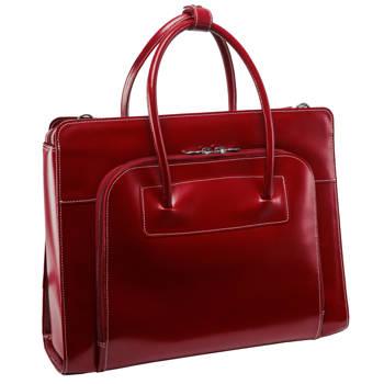 """Torba damska skórzana Lake Forest Red na laptopa 15,6"""" dla bizneswoman"""
