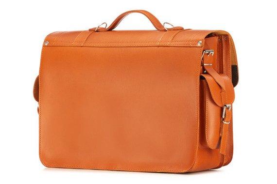 Brązowa duża torba pełniąca funkcje plecaka kufra Vintage P23
