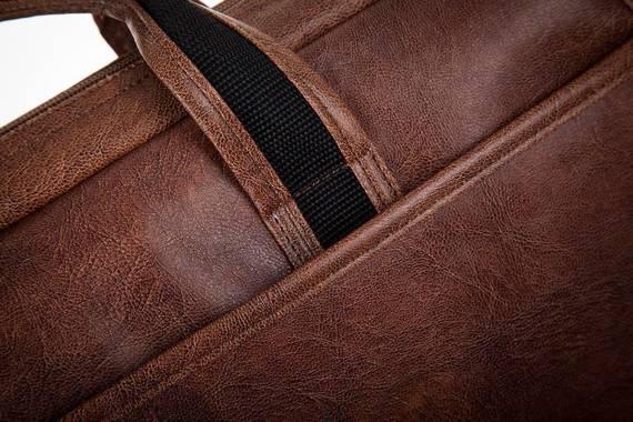 """Brązowa męska torba na ramię, laptopa 15,6"""" SOLIER S13"""