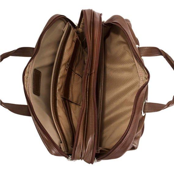 """Brązowa torba skórzana na komputer Irving Park 15,6"""""""