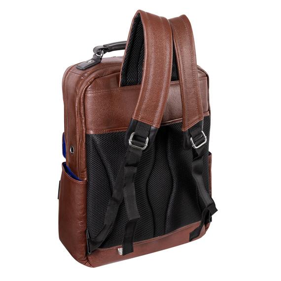 """Brązowy plecak Logan ze skóry naturalnej na laptopa 17"""""""