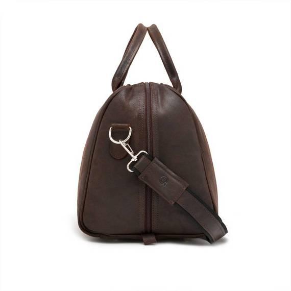 Ciemno brązowa podróżna torba weekendowa na ramię brodrene bl10