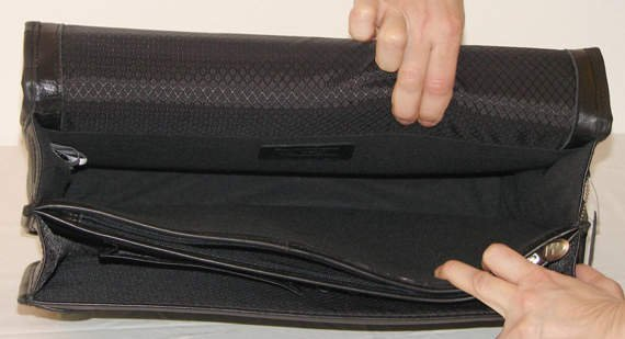 """Czarna teczka biznesowa na laptopa Bucktown 15,6"""""""