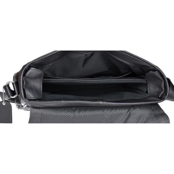 """Męska torba na ramię skóra naturalna San Francesco czarna 15,6"""""""
