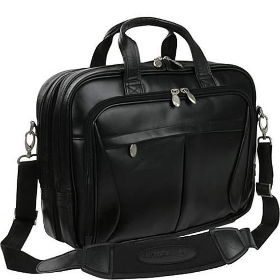 """Męska torba skórzana na laptopa 15,6"""" oraz 17"""" Pearson, czarna"""
