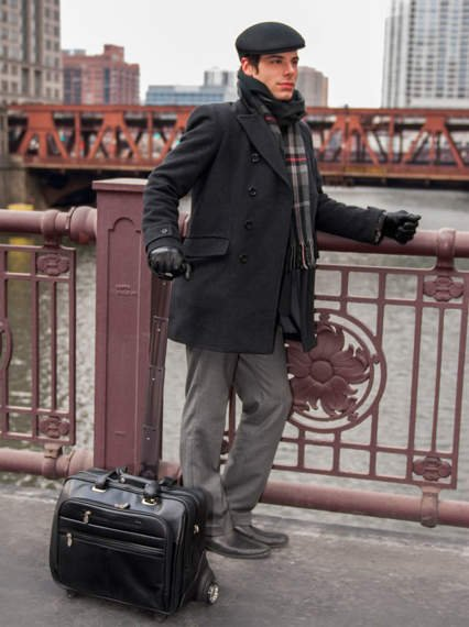 "Męska torba z odpinanym wózkiem Ohare 17"""