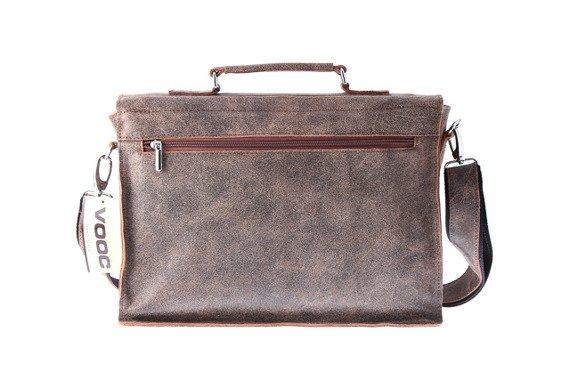 Old Look torba skórzana brązowa na laptopa URBAN ATS164