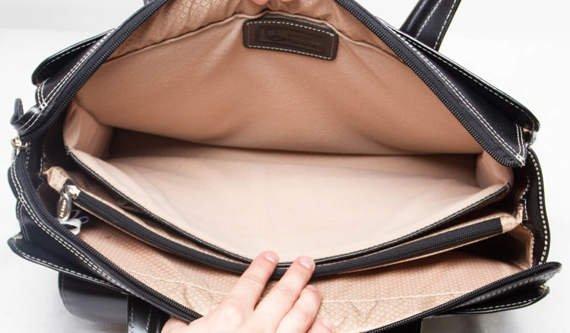 """Skórzana torba damska Alexis na laptopa, kolor czarny 15,6"""""""