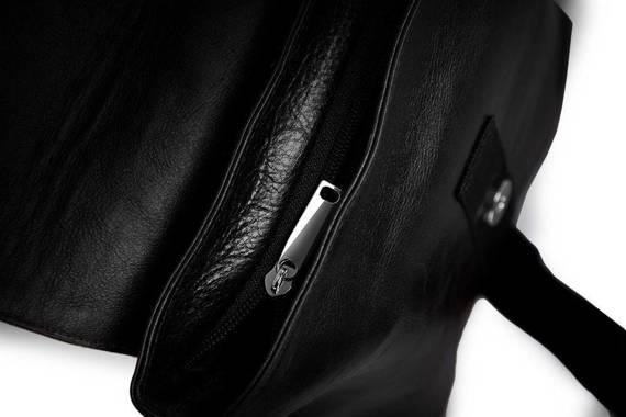 Skórzana torba na ramię/ tablet Solier Messel SL31 czarna