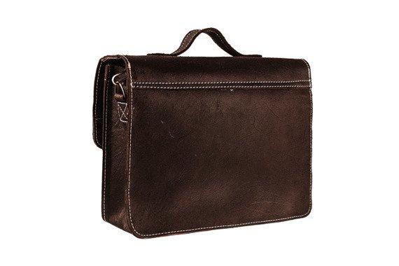 Skórzana torba na ramię teczka TC5 brązowa
