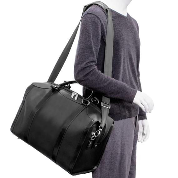 "Skórzana torba podróżna czarna Throop 18"""